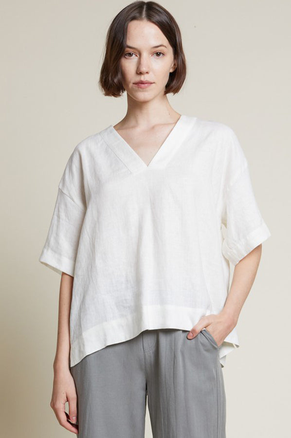 Bitty Oversized Top White