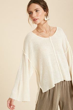Josefina Knit Sweater Ivory