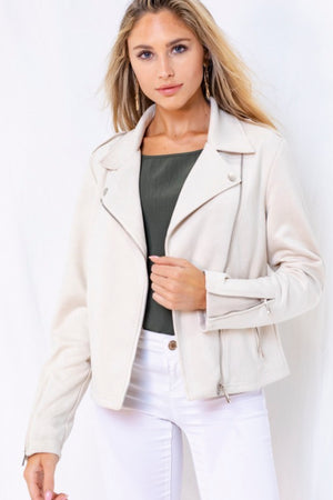 Farren Suedy Moto Jacket Natural