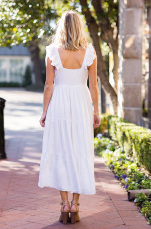 Margot Midi Dress White