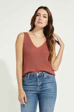 Lisette Sweater Tank Clay