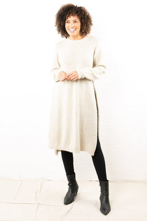 Lanai Sweater Tunic Taupe