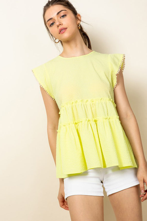 Logan Neon Top Yellow