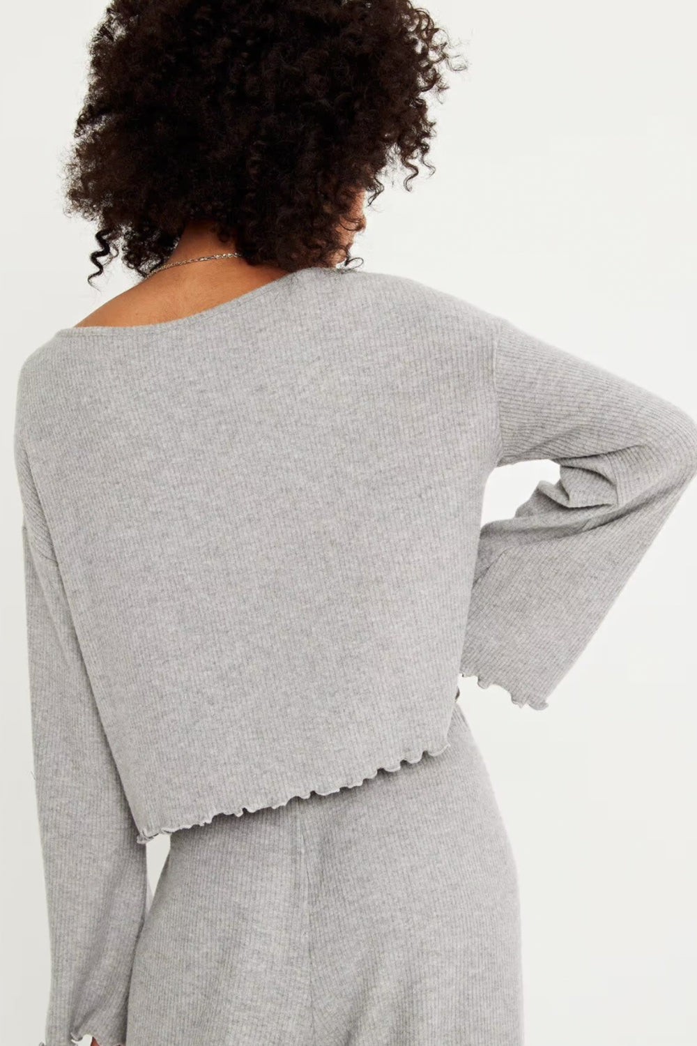 Talulah Long Sleeve Top Grey