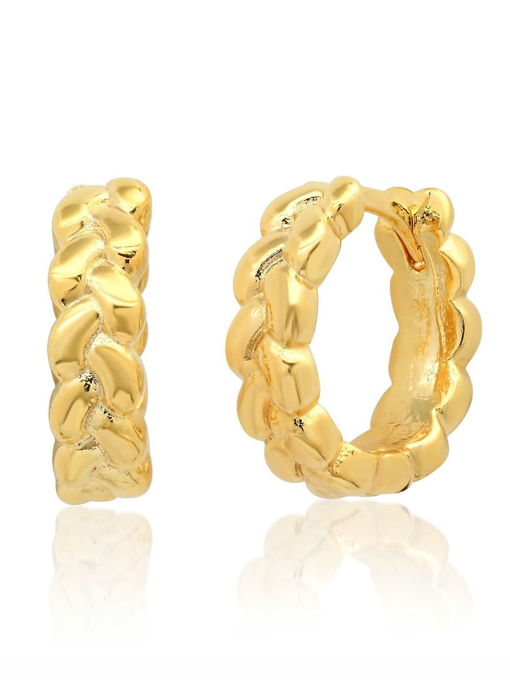 Braided Gold Huggie