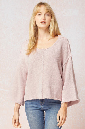 Katie Seamed Sweater Lavender