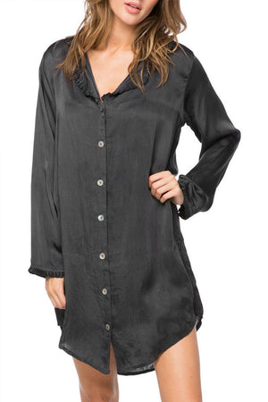 Miranda Sleep Shirt Black