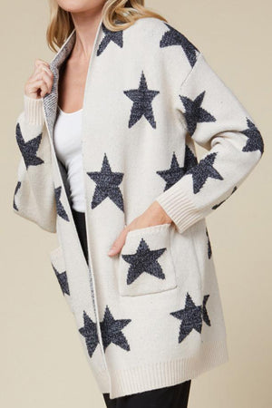 Sand Starry Knit Sweater