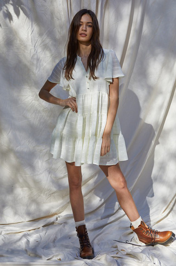 Bristol Baby Doll Dress Off White
