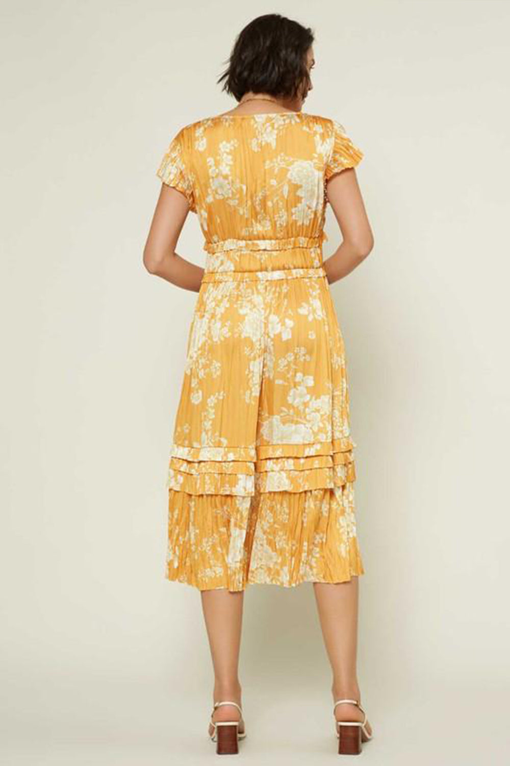 Chloe Midi Dress Orange Citrus