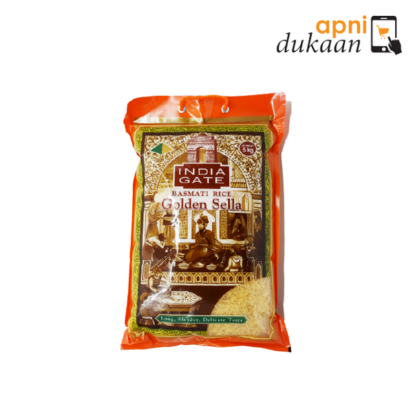 India Gate Basmati Rice - Golden Sella 5kg - Apni Dukaan NSW