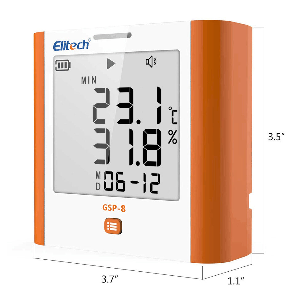 Elitech GSP-8 Temperature and Humidity Data Logger