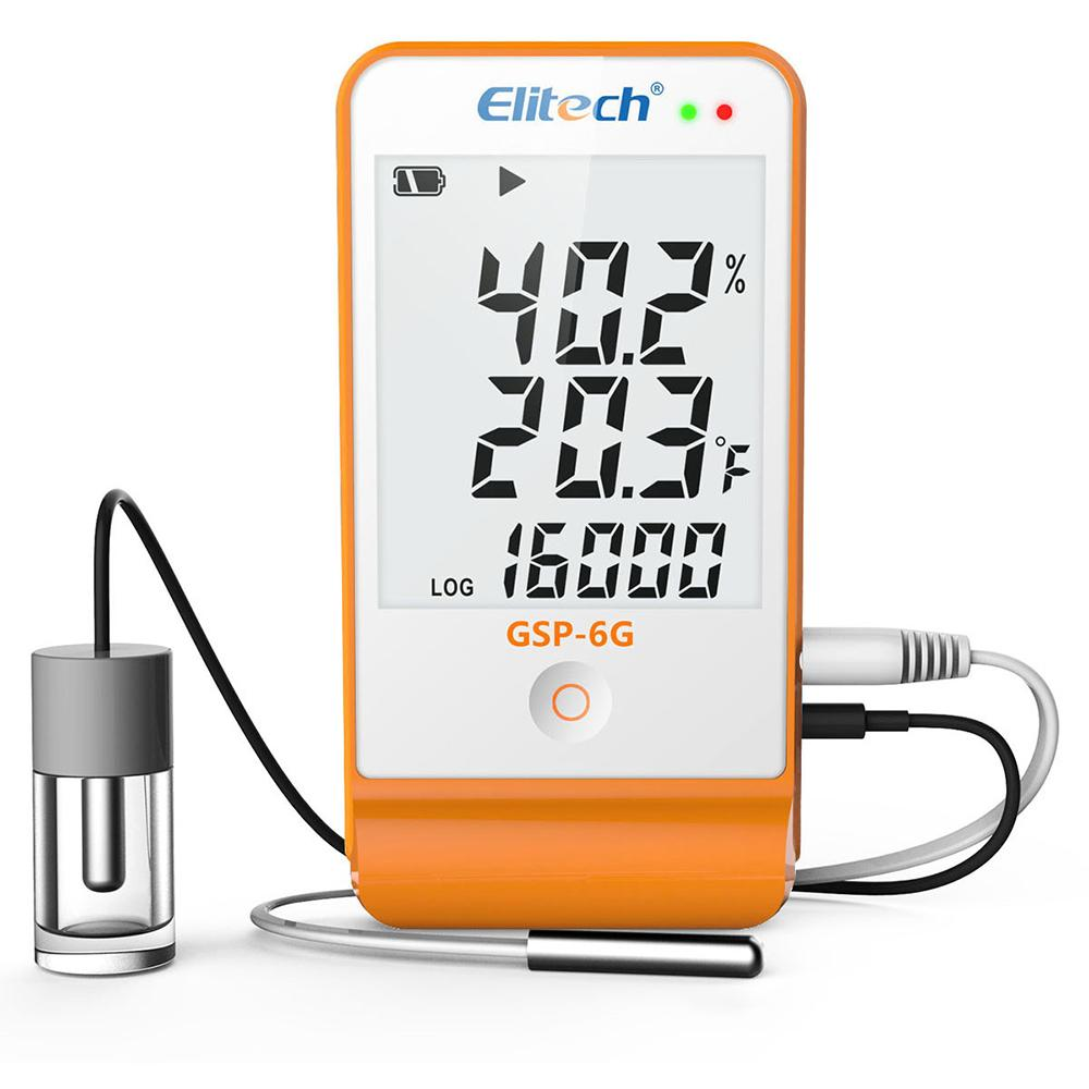 Elitech GSP-6G Temperature and Humidity Data Logger with Glycol Bottle