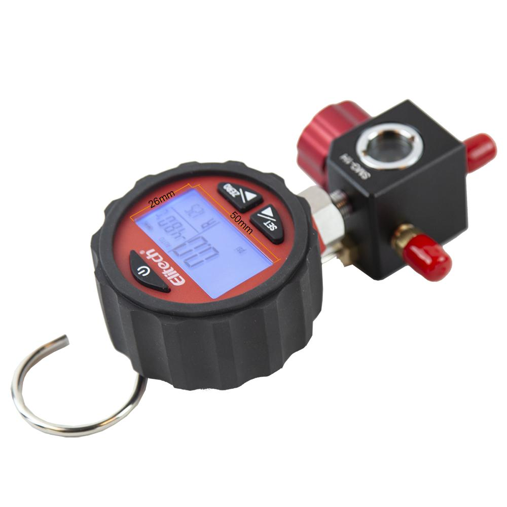 Elitech SMG-1H Refrigeration HVAC Digital Pressure Gauge for 87+ Refrigerants with Backlight -14.5-800 PSI
