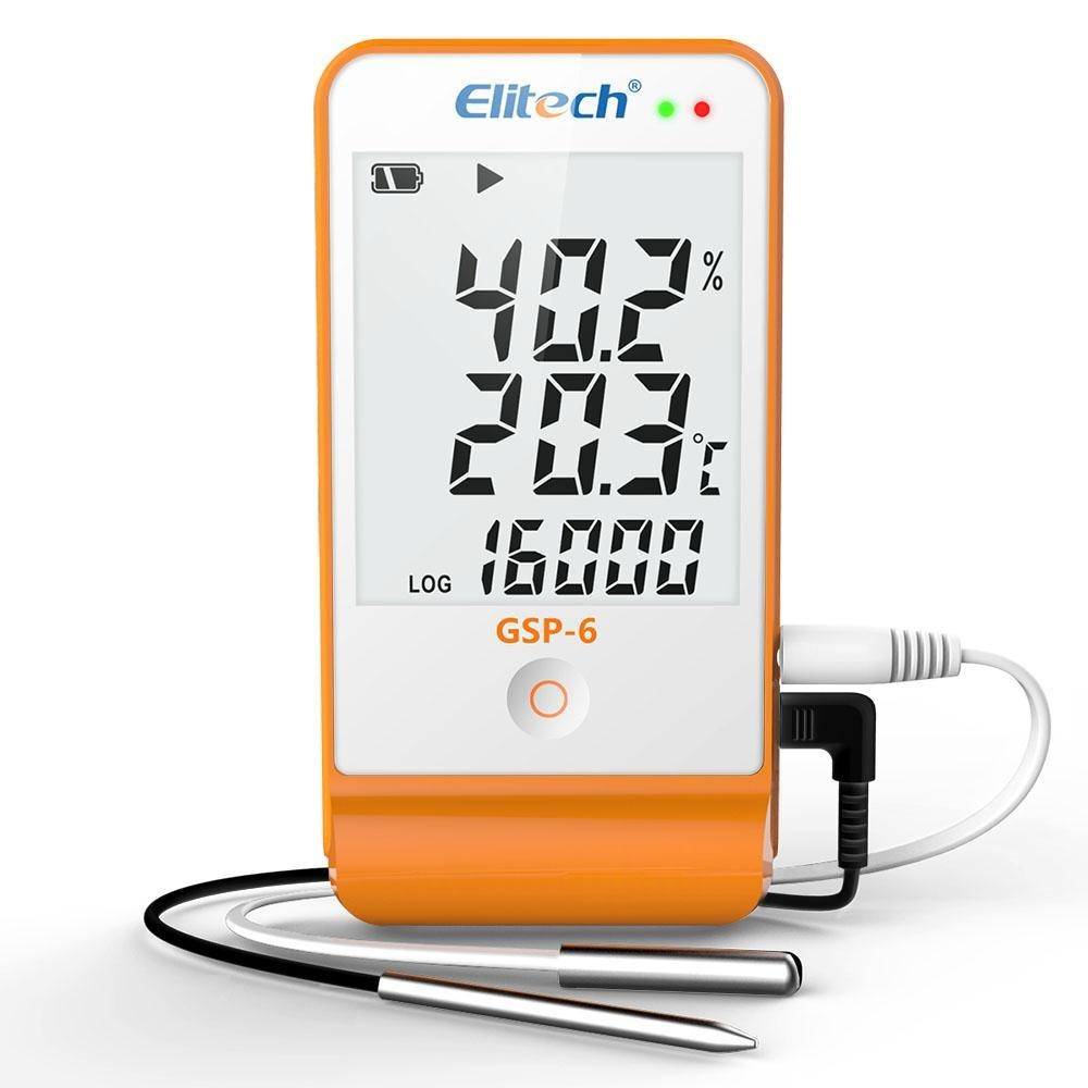 Elitech GSP-6 Temperature and Humidity Data Logger 16000 Points Refrigeration Cold Chain Temperature Recorder - Elitechustore