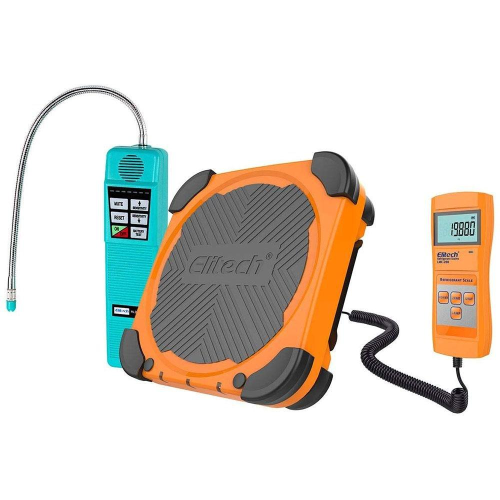 Elitech HLD-100+ Halogen Leak Detector Freon Sniffer + LMC-200 Refrigerant Charging Scale HVAC Freon Scale 220lbs - Elitech Technology, Inc.