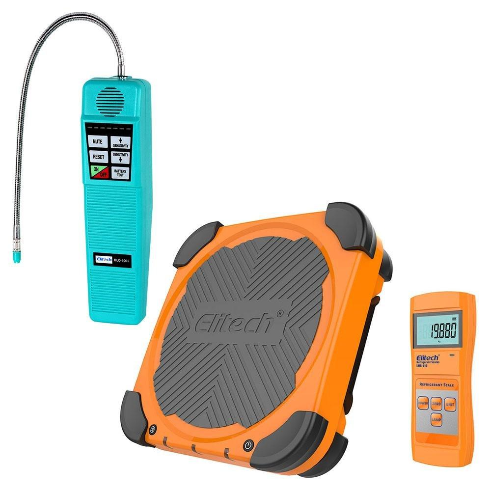 Elitech HLD-100+ Refrigerant Leak Detector + LMC-210 Wireless Refrigerant Scale 220lbs - Elitech Technology, Inc.