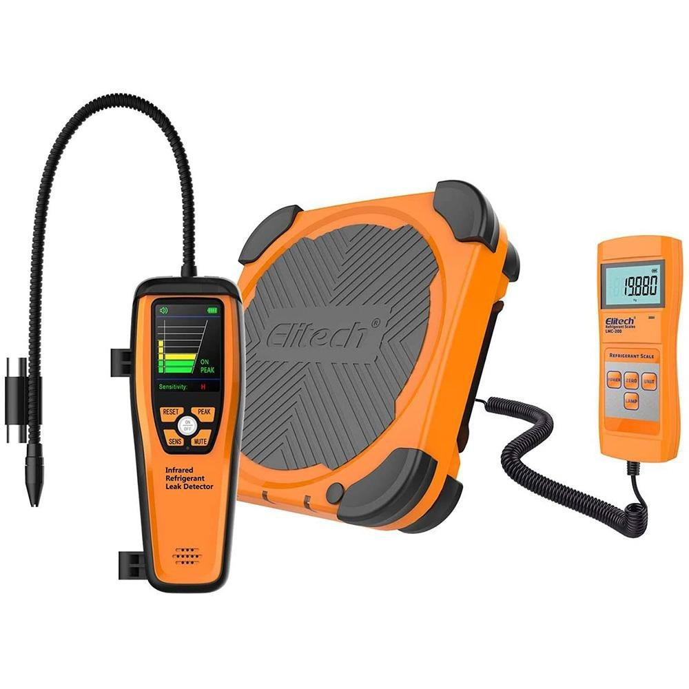 Elitech HVAC Tools Set - Refrigerant Infrared Leak Detector ILD-200 & Refrigerant Charging Scale LMC-200 - Elitech Technology, Inc.