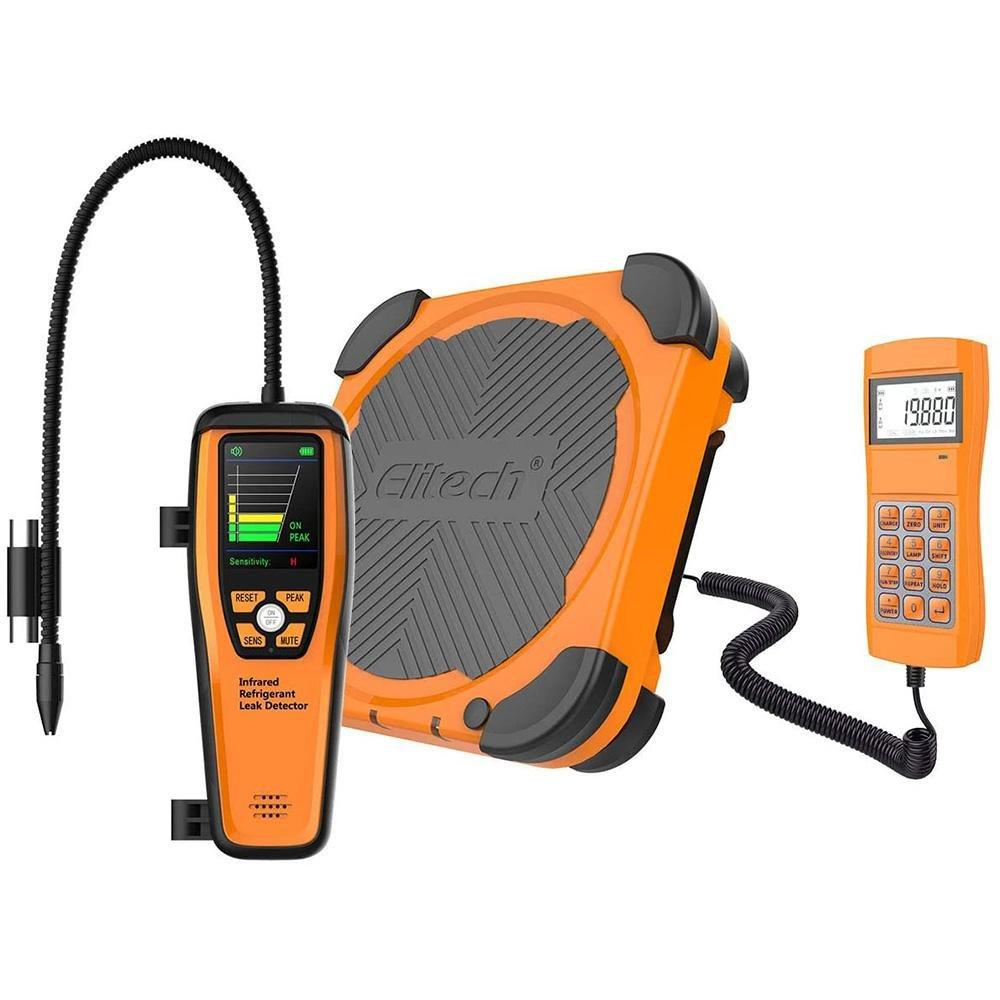 Elitech HVAC Tools Set - Refrigerant Infrared Leak Detector ILD-200 & Refrigerant Charging Scale LMC-300A - Elitech Technology, Inc.