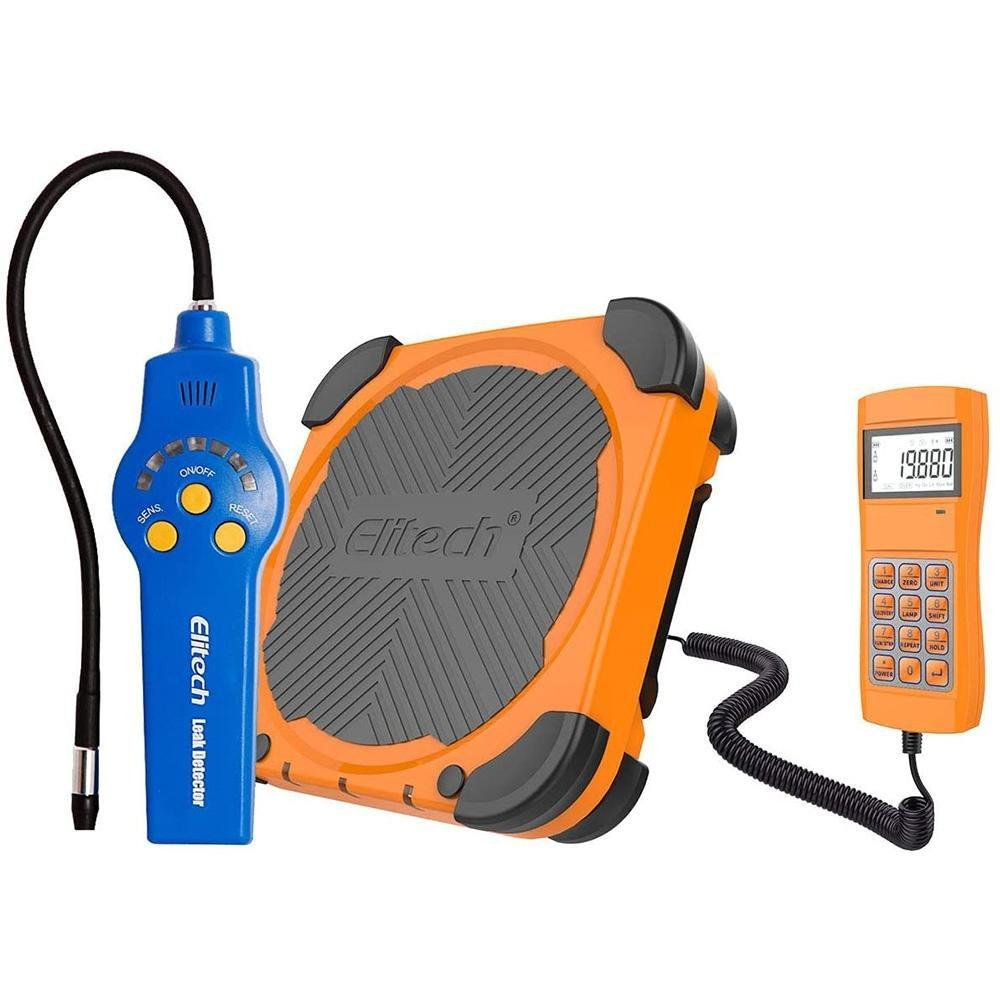 Elitech HVAC Tools Set - Refrigerant Leak Detector HLD-200 & Refrigerant Charging Scale LMC-300A - Elitech Technology, Inc.