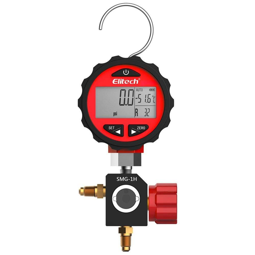 Elitech SMG-1H Refrigeration HVAC Digital Pressure Gauge for 87+ Refrigerants with Backlight -14.5-800 PSI - Elitech Technology, Inc.