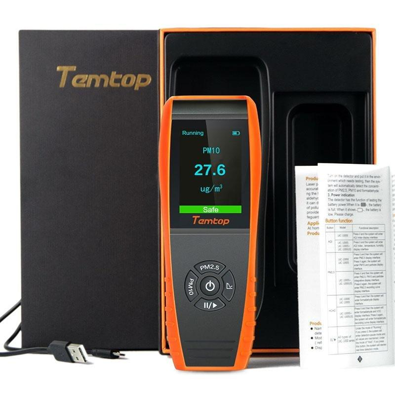 Temtop P600 Air Quality Laser Particle Detector Professional Meter for PM2.5/PM10 TFT Color LCD Display - Elitechustore