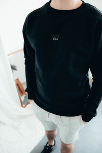 6IX CREW NECK JUMPER BLACK - 6IX Collection