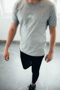 6IX CONTRAST LOGO TEE GREY - 6IX Collection