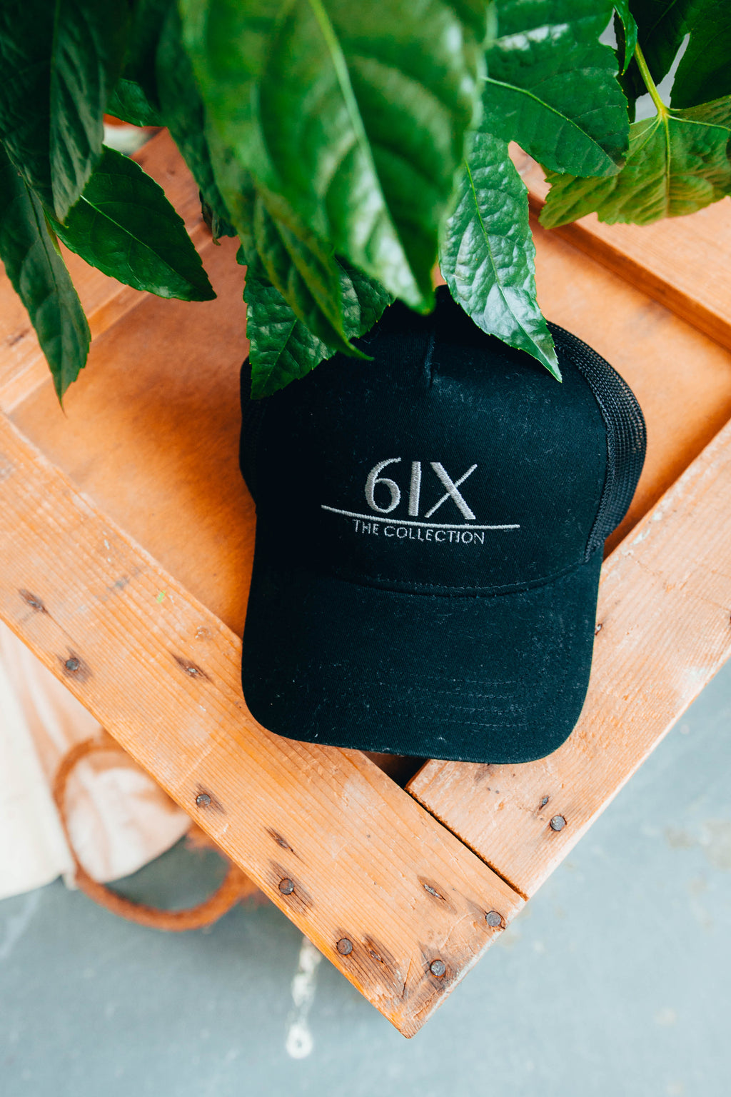 6IX LOGO CAP BLACK W/ GREY CONTRASTING & MESH PANEL - 6IX Collection
