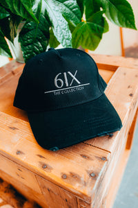 6IX LOGO CAP BLACK W/ GREY CONTRASTING - 6IX Collection
