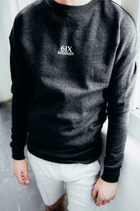 6IX CREW NECK JUMPER CHARCOAL GREY - 6IX Collection