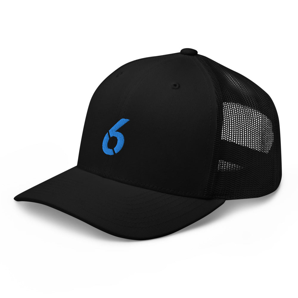 TRUCKER CAP BLUE 6 LOGO - 6IX Collection