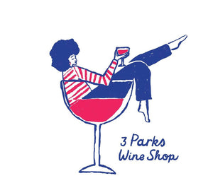 "3 Parks Wine ""Chic in a Glass"" Ringer Tee"