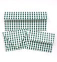 Gingham Green Envelopes - 20 per pack