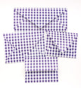 Gingham Purple Envelopes - 20 per pack