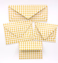 Gingham Yellow Envelopes - 20 per pack