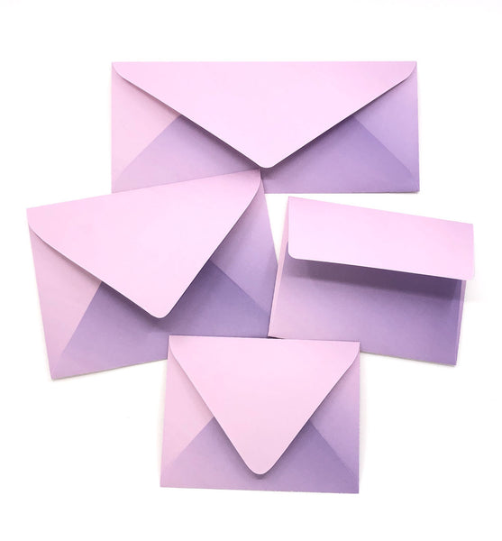 Ombre Lilac Envelopes
