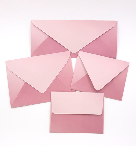 Ombre Peach Envelopes