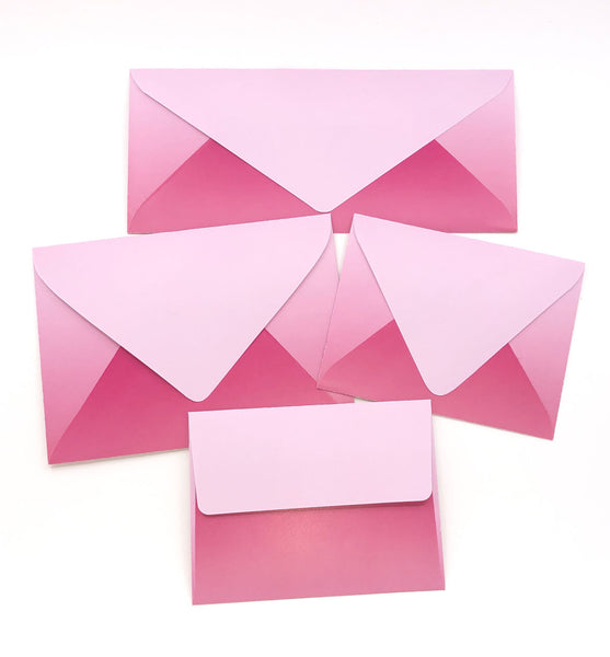 Ombre Pink and Fushia Envelopes