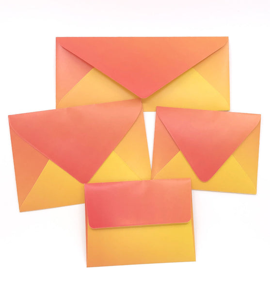 Warm Fiery Sunset Envelopes - 20 per pack