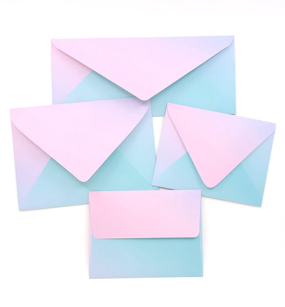 Cotton Candy Envelopes - 20 per pack