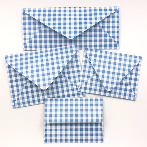 Gingham Envelopes