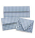 Gingham Navy Envelopes - 20 per pack