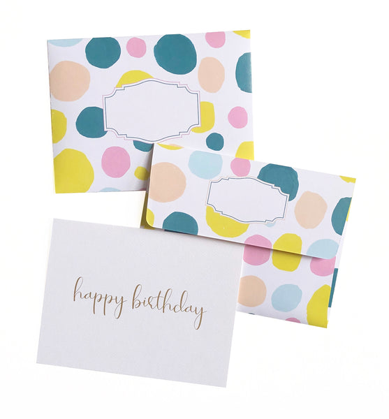 Happy Birthday Watercolour Dots