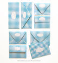 GINGHAM BLUE ENVELOPES & LINERS