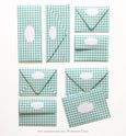 GINGHAM MINT GREEN ENVELOPES & LINERS
