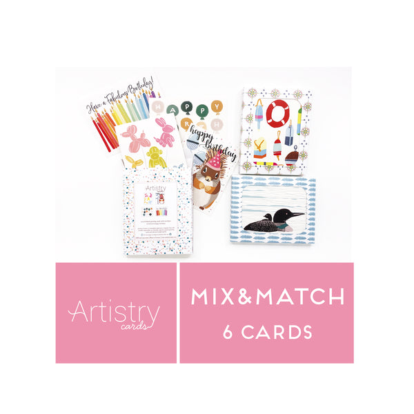 Mix and Match 6 Greeting Cards