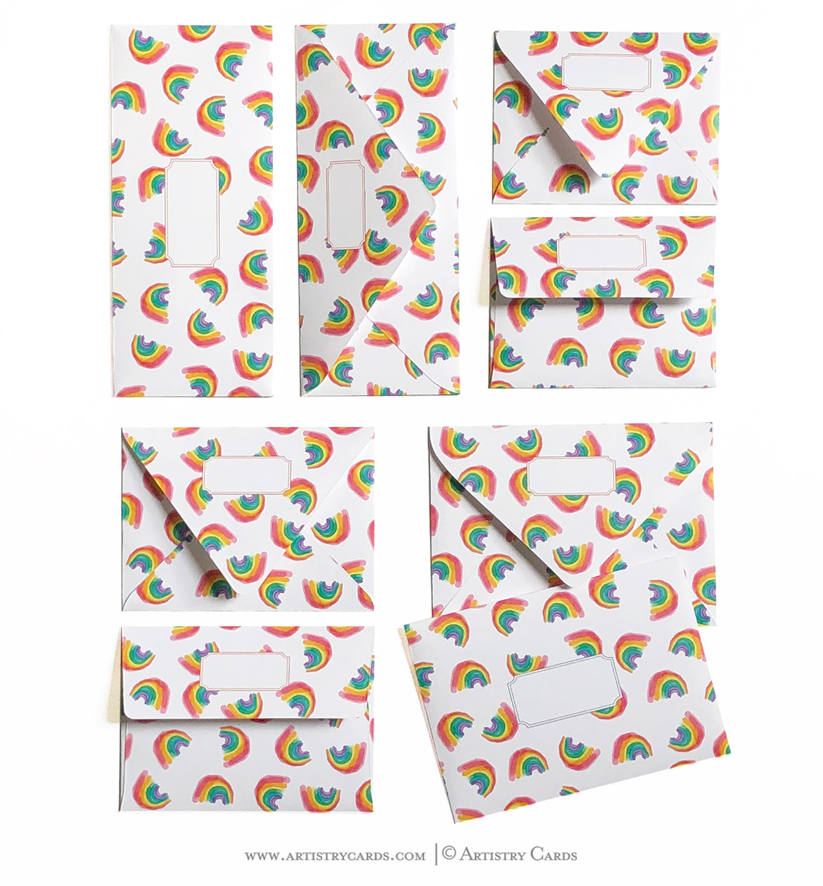 RAINBOW PATTERN ENVELOPES & LINERS
