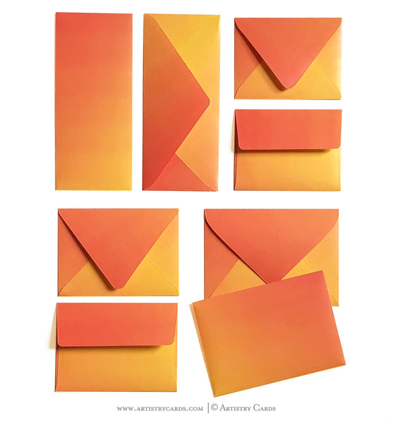 WARM FIERY SUNSET ENVELOPES