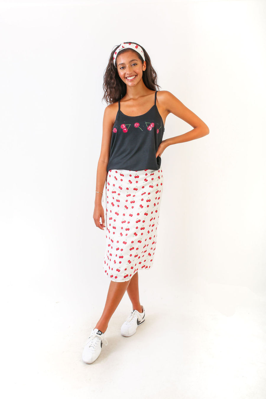 BELLA SKIRT CHERRIES POLYSATIN *LIMITED*EDITION*